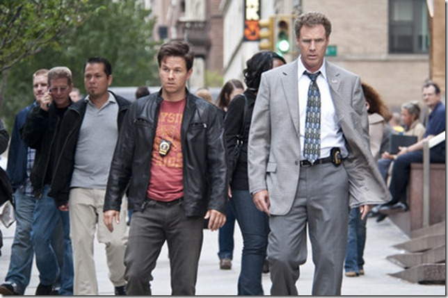 "Mark Wahlberg, left, and Will Ferrell in Columbia Pictures' comedy ""The Other Guys."""
